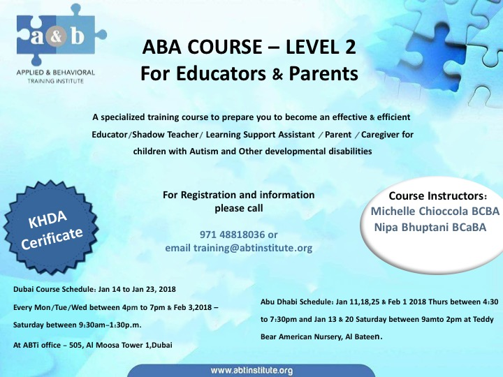 ABA course LEVEL 2 - A&B Training