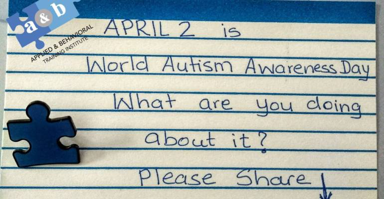 April 2 – World Autism Awareness Day